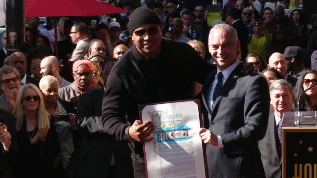 ll cool j at hollywood walk of fame on january 21 2016 in hollywood california - ll cool j stock videos and b-roll footage