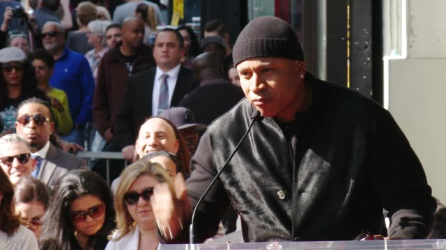 cool j at hollywood walk of fame on january 21 2016 in hollywood california - ll cool j stock videos and b-roll footage