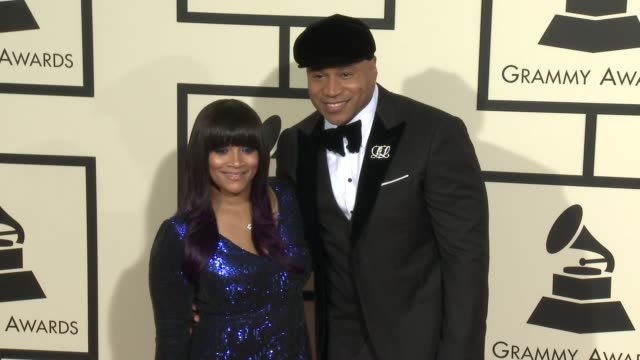 ll cool j at the 58th annual grammy awards® arrivals at staples center on february 15 2016 in los angeles california - ll cool j stock videos and b-roll footage