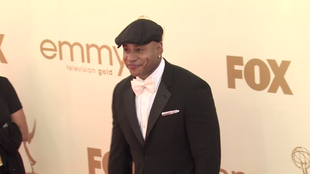 ll cool j at the 63rd primetime emmy awards arrivals part 1 at los angeles ca - 63rd annual primetime emmy awards stock videos and b-roll footage