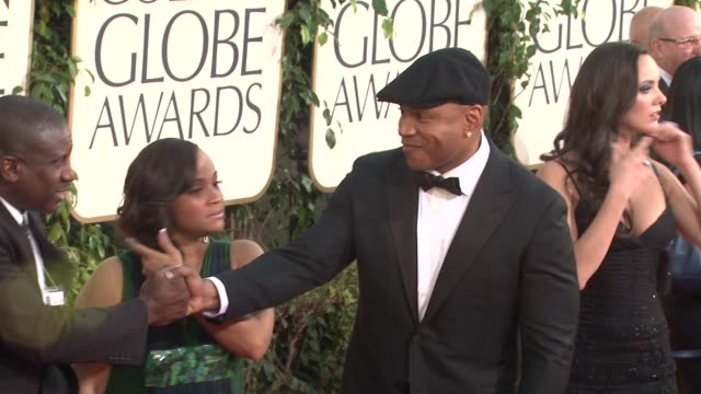 ll cool j at the 68th annual golden globe awards arrivals part 2 at beverly hills ca - ll cool j stock videos and b-roll footage