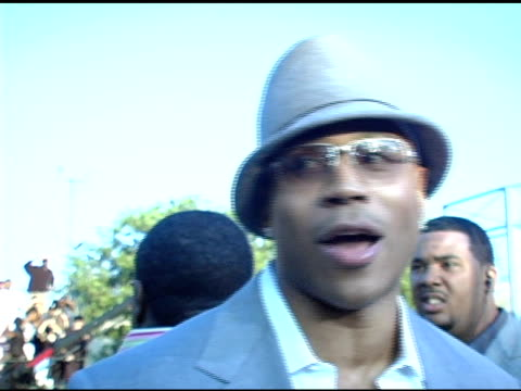 ll cool j at the bet comedy awards interviews at pasadena civic auditorium in pasadena california on september 28 2004 - 2004 stock videos and b-roll footage