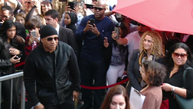 ll cool j at the ll cool j honored with star on the hollywood walk of fame at hollywood walk of fame on january 21 2016 in hollywood california - ll cool j stock videos and b-roll footage