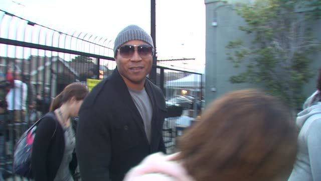 ll cool j at the we are the world 25th anniversary recording for haitian earthquake relief at los angeles ca - 25th anniversary stock videos and b-roll footage