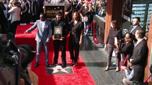 cool j honored with star on the hollywood walk of fame at hollywood walk of fame on january 21 2016 in hollywood california - ll cool j stock videos and b-roll footage