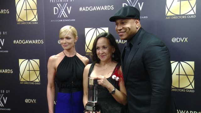 ll cool j jaime pressley and denise pizzini at art directors guild 20th annual excellence in production design awards at the beverly hilton hotel on... - ll cool j stock videos and b-roll footage