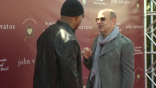 ll cool j john varvatos at the john varvatos 8th annual stuart house benefit at los angeles ca - ll cool j stock videos and b-roll footage
