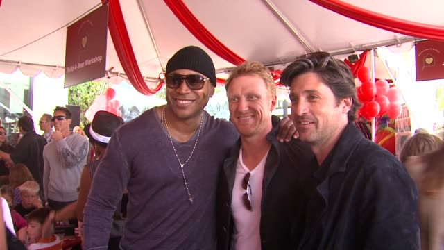 ll cool j kevin mckidd patrick dempsey at the john varvatos 8th annual stuart house benefit at los angeles ca - ll cool j stock videos and b-roll footage