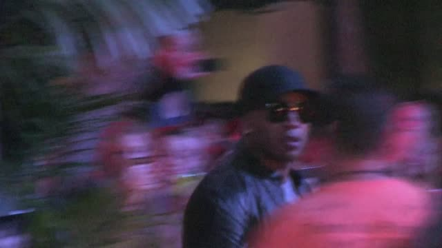 ll cool j leaving wango tango concert 2011 in los angeles - ll cool j stock videos and b-roll footage