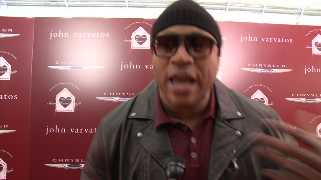 cool j on being a part of the event why it's important to shed a light on stuart house what he appreciates about john varvatos' support of stuart... - ll cool j stock videos and b-roll footage