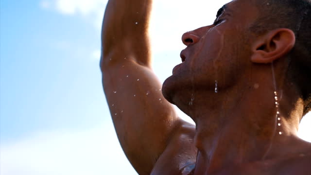 cool off after exercise - body building stock videos & royalty-free footage