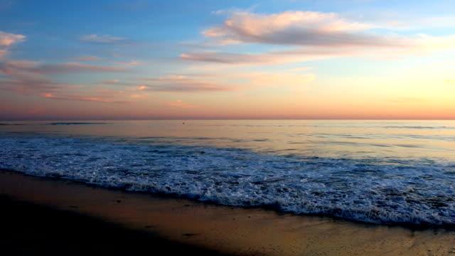Cool Pastel California Pacific Ocean Sunset
