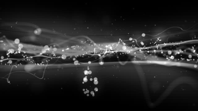 cool streaks loop - night silver (hd) - grayscale stock videos and b-roll footage