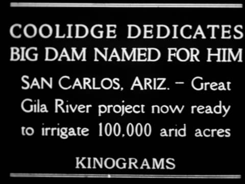 """coolidge dedicates big dam named for him"" / newsreel - 1926 stock videos & royalty-free footage"