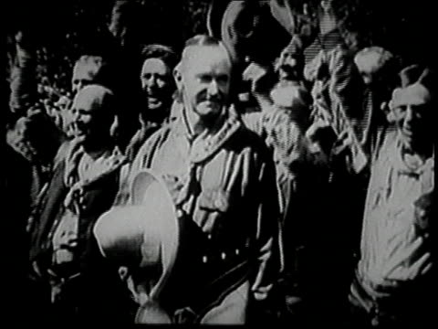 coolidge holding cowboy hat, men in background / coolidge - 1927 stock videos & royalty-free footage