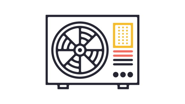 cooling icon animation - climate icon stock videos & royalty-free footage