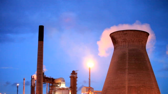 Cooling towers and gas flares