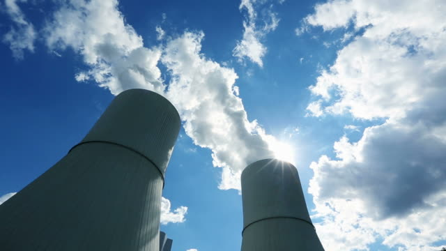 Cooling Towers Of Coal Power Station