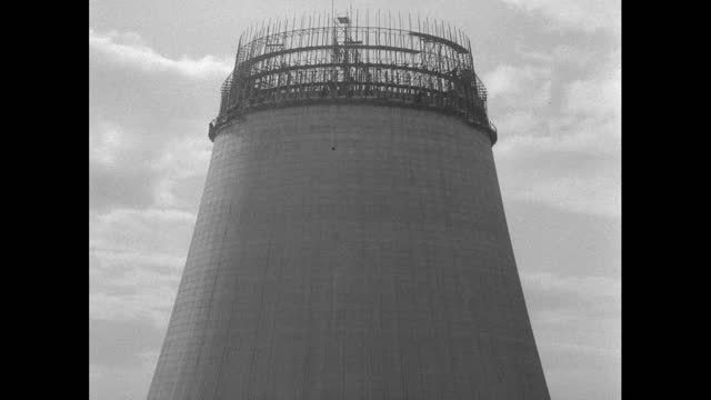 tu cooling towers under construction at sellafield, uk; 1956 - 1956 stock videos & royalty-free footage