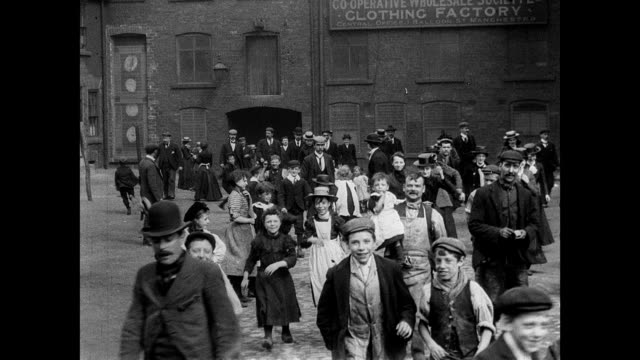 1900 co-operative wholesale clothing factory in manchester - manchester england stock videos & royalty-free footage