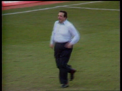 coopers and lybrand fined lib england oxford headington manor ground ext robert maxwell running on pitch after oxford united beat arsenal to avoid... - robert maxwell stock videos and b-roll footage