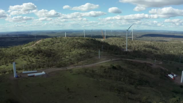 coopers gap wind farm - fuel and power generation stock videos & royalty-free footage