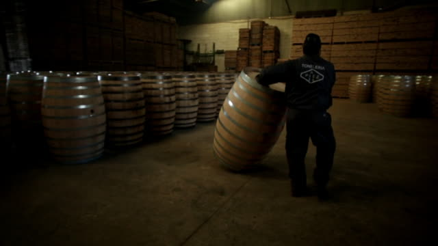 coopers in jerez spain have been known worldwide for their barrel making skills they are currently still exporting these high quality barrels around... - footage technique stock videos and b-roll footage
