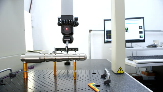 coordinate measuring machine - micrometer stock videos & royalty-free footage