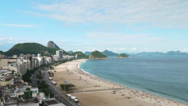 copacabana beach in rio de janeiro, brazil - copacabana stock videos & royalty-free footage