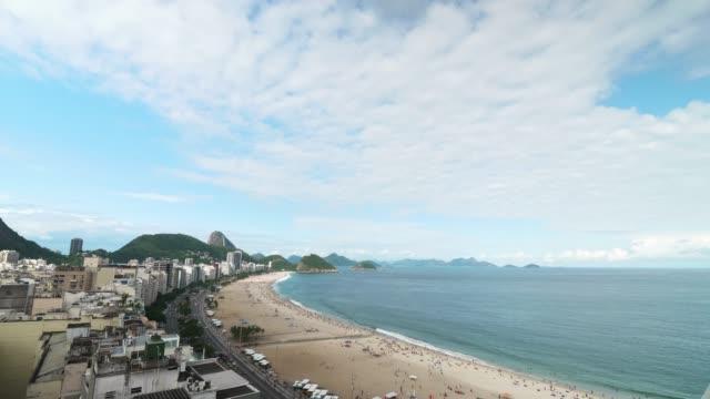 copacabana beach in rio de janeiro, brazil - copacabana beach stock videos & royalty-free footage