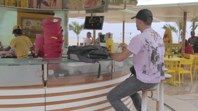 copacabana beach in rio de janeiro - bodyweight training stock videos & royalty-free footage