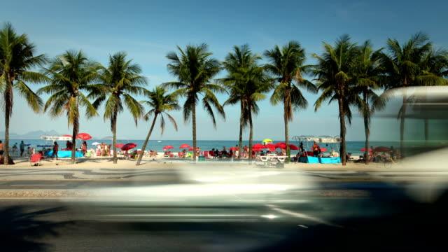 copacabana beach, rio de janeiro, brazil - copacabana stock videos & royalty-free footage
