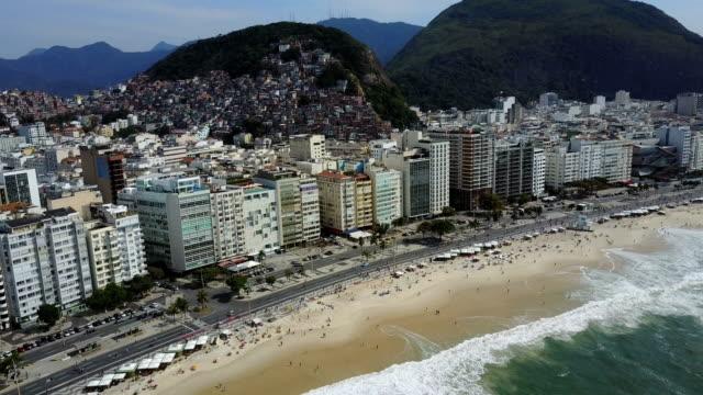 copacabana beach, rio de janeiro, brazil - brasile video stock e b–roll