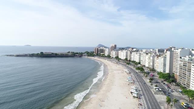 copacabana beach, rio de janeiro - copacabana beach stock videos & royalty-free footage