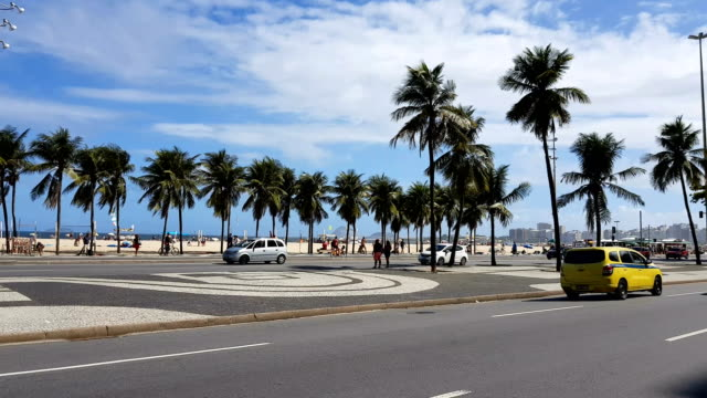copacabana beach - promenade stock videos & royalty-free footage
