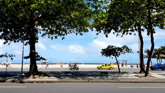 copacabana beach - pedestrian walkway stock videos & royalty-free footage