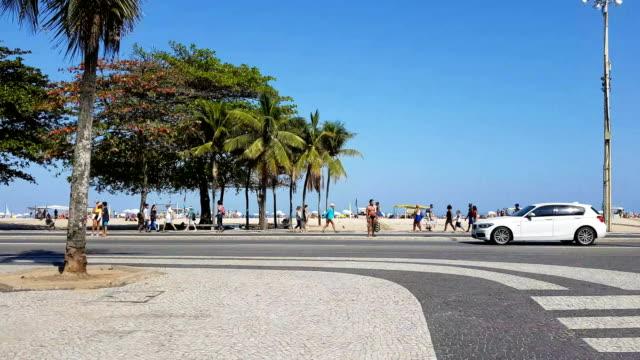 copacabana beach - rio de janeiro stock videos & royalty-free footage
