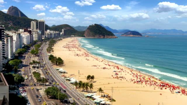 copacabana, rio de janeiro, brazil - copacabana stock videos & royalty-free footage