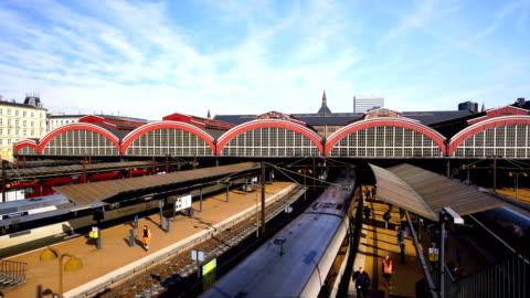 copenhagen central railway station, denmark - railroad station stock videos & royalty-free footage