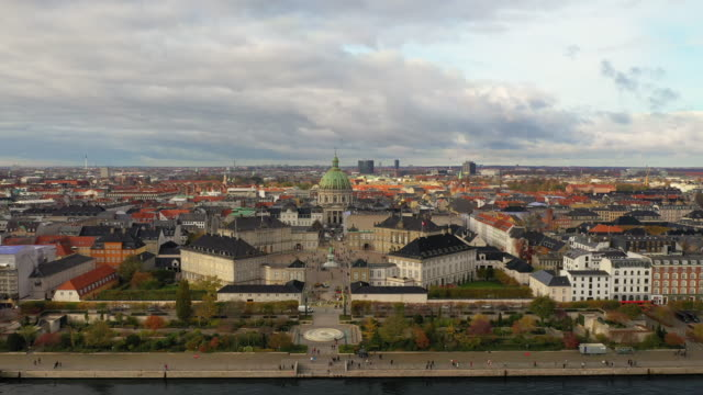 copenhagen cityscape: modern architecture at the sea - copenhagen video stock e b–roll