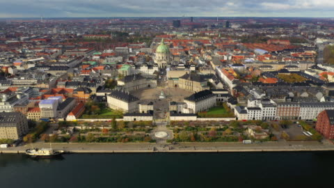 copenhagen cityscape: modern architecture at the sea - copenhagen stock videos & royalty-free footage