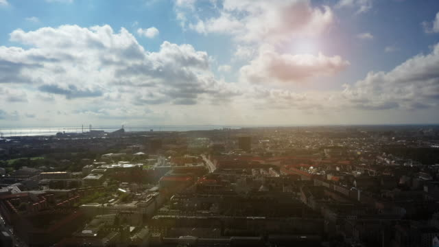 copenhagen cityscape - drone point of view stock videos & royalty-free footage
