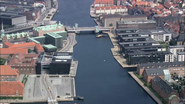 copenhagen - det kongelige bibliotek  - aerial view - capital region, copenhagen municipality, denmark - copenhagen stock videos and b-roll footage