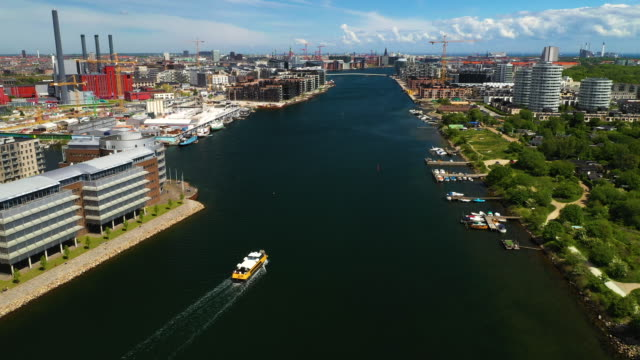 copenhagen from above - harbor stock videos & royalty-free footage