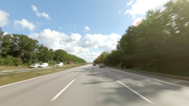 copenhagen highway vi synced series front view driving process plate - highway stock videos & royalty-free footage