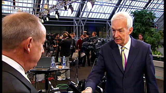 copenhagen int yvo de boer interview sot discusses hopes for copenhagen climate change summit - oresund region stock videos & royalty-free footage