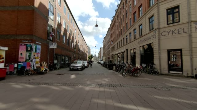 copenhagen nørrebro vii synced series rear view driving process plate - moving process plate stock videos and b-roll footage