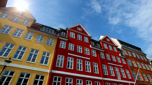copenhagen nyhavn, time lapse - old town stock videos & royalty-free footage