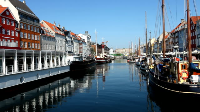 copenhagen nyhavn - denmark stock videos & royalty-free footage