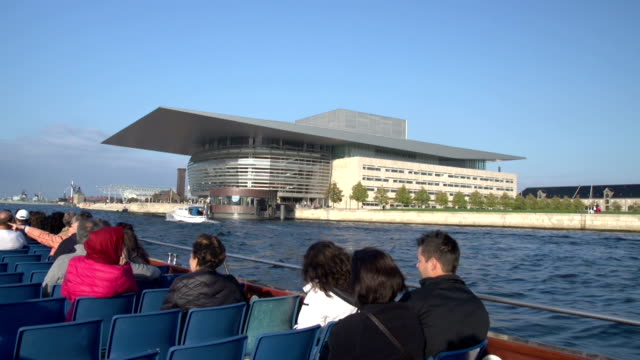 Copenhagen Opera House - Wide shot with tourists